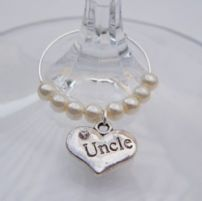Uncle Wine Glass Charms